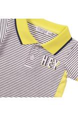 Dirkje Dirkje baby jongens polo t-shirt Hey Navy Stripe