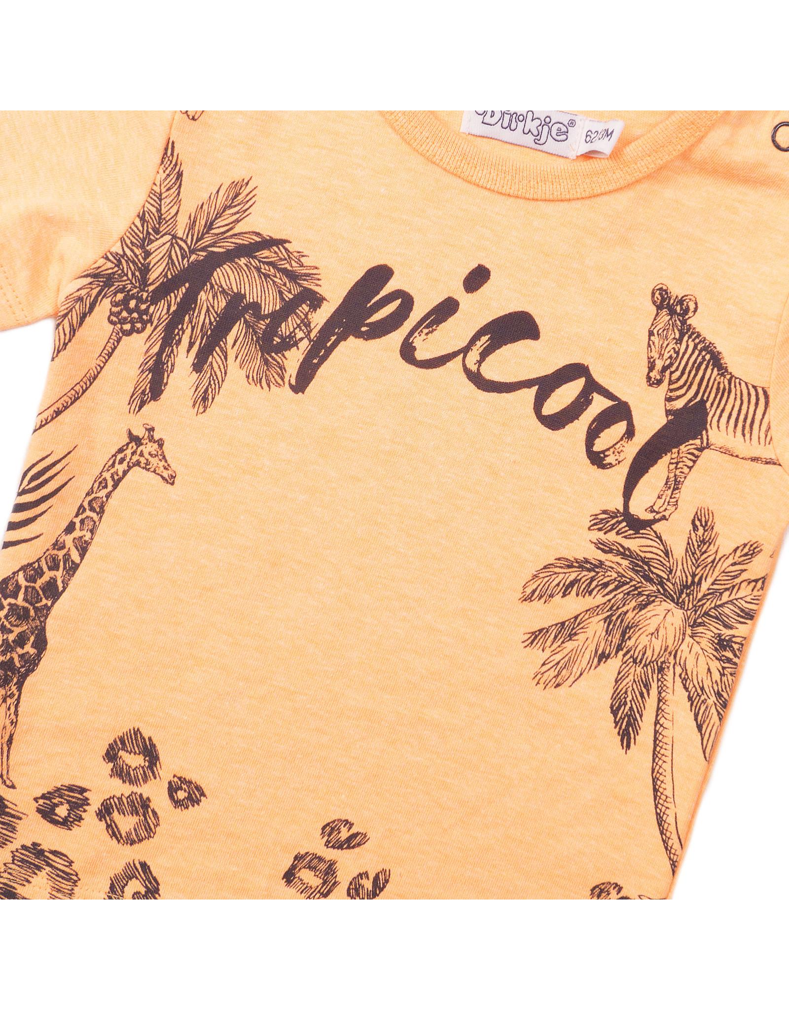 Dirkje Dirkje baby jongens t-shirt Tropicool Bright Orange