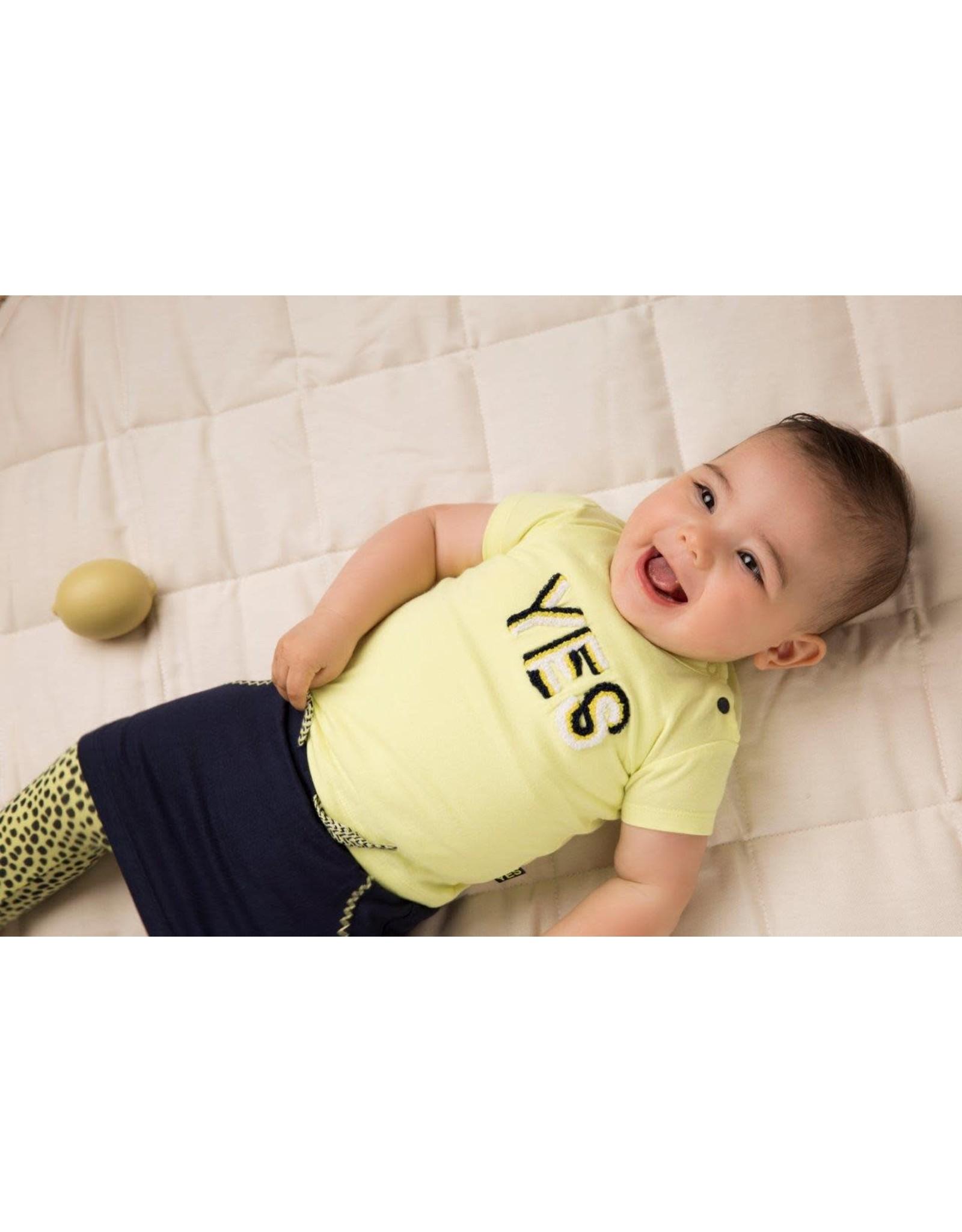 Dirkje Dirkje baby meisjes setje Yes Navy Yellow