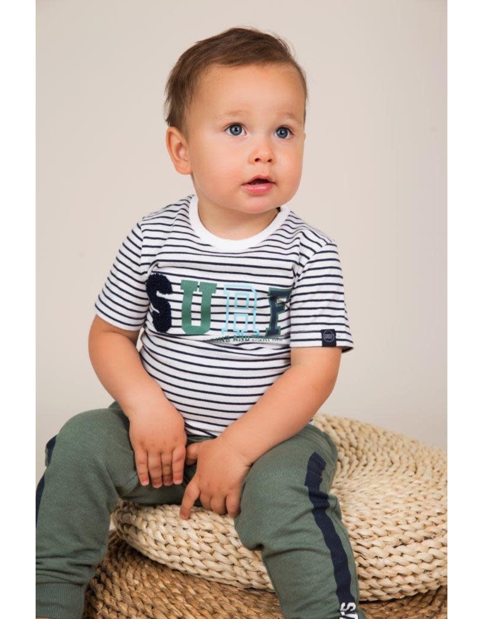 Dirkje Dirkje baby jongens t-shirt Surf Navy Stripe