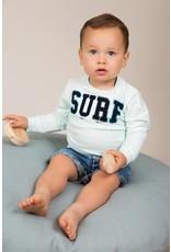 Dirkje Dirkje baby  jongens korte jeans Palmtreas bluejeans
