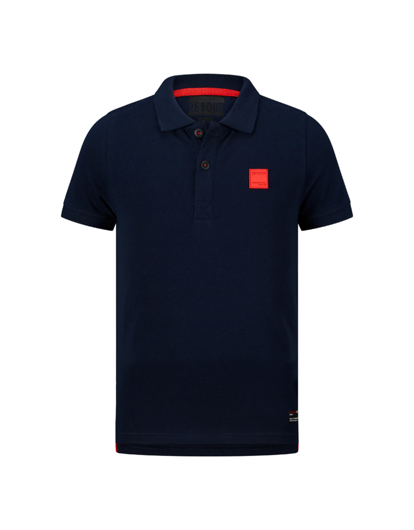 RETOUR Retour jongens polo t-shirt Lucas Dark Navy S21