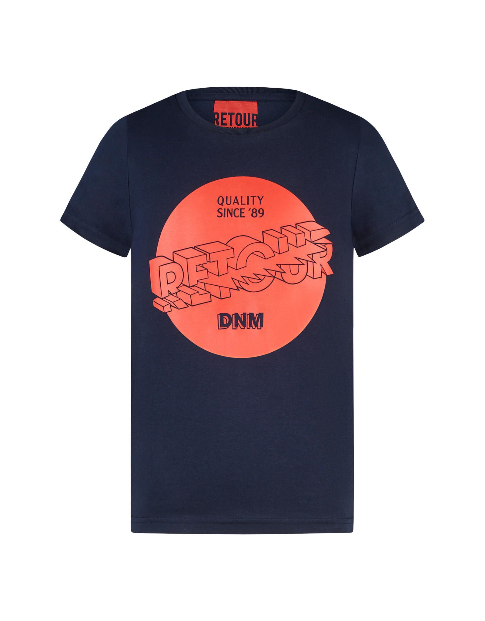 RETOUR Retour jongens t-shirt Davis Dark Navy S21