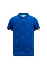 RETOUR Retour jongens polo t-shirt Gustav Mid Blue S21