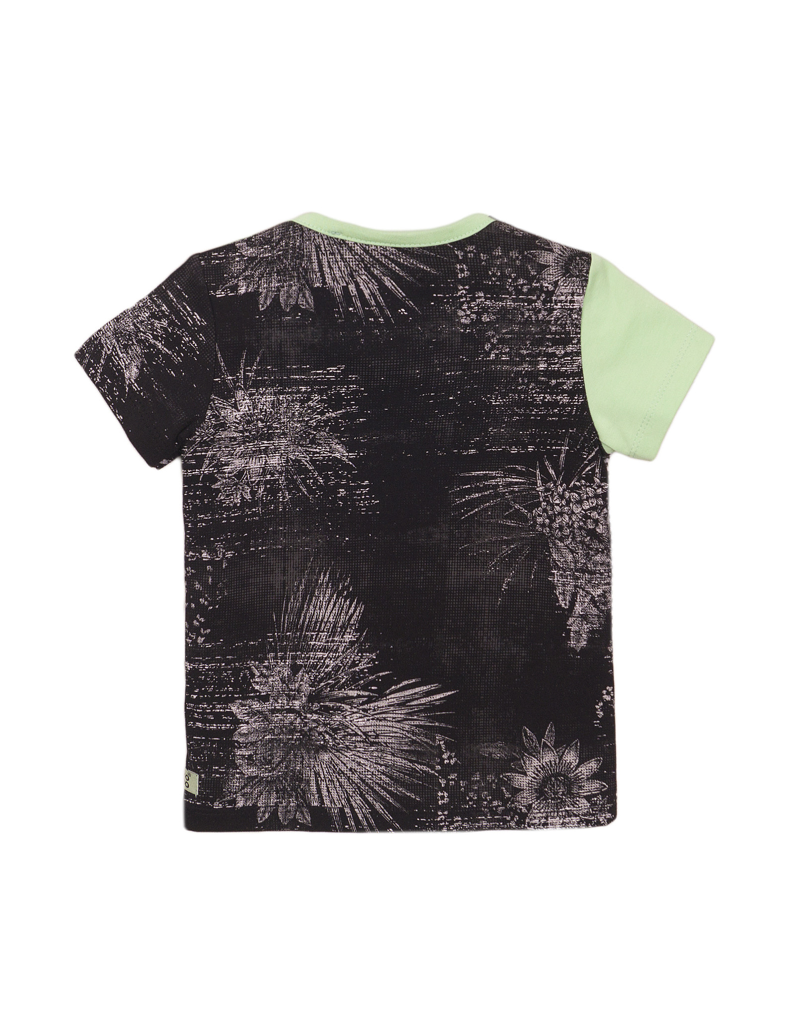 Koko Noko Koko Noko jongens t-shirt Flower Faded Green Dark Grey