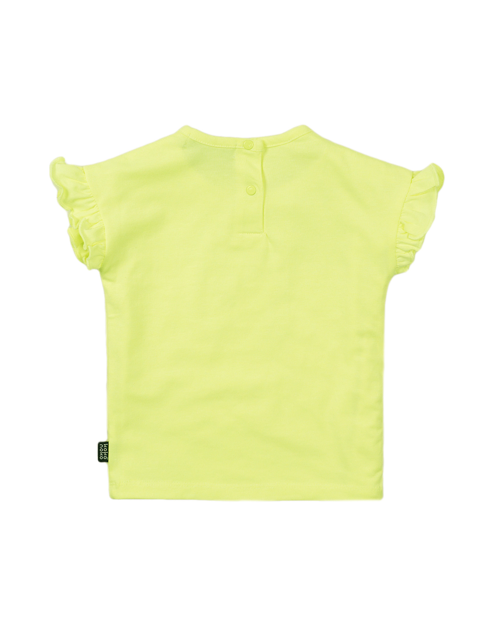 Koko Noko Koko Noko meisjes t-shirt Word Traveller Neon Yellow