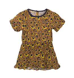 Koko Noko Koko Noko meisjes jurk panterprint Camel