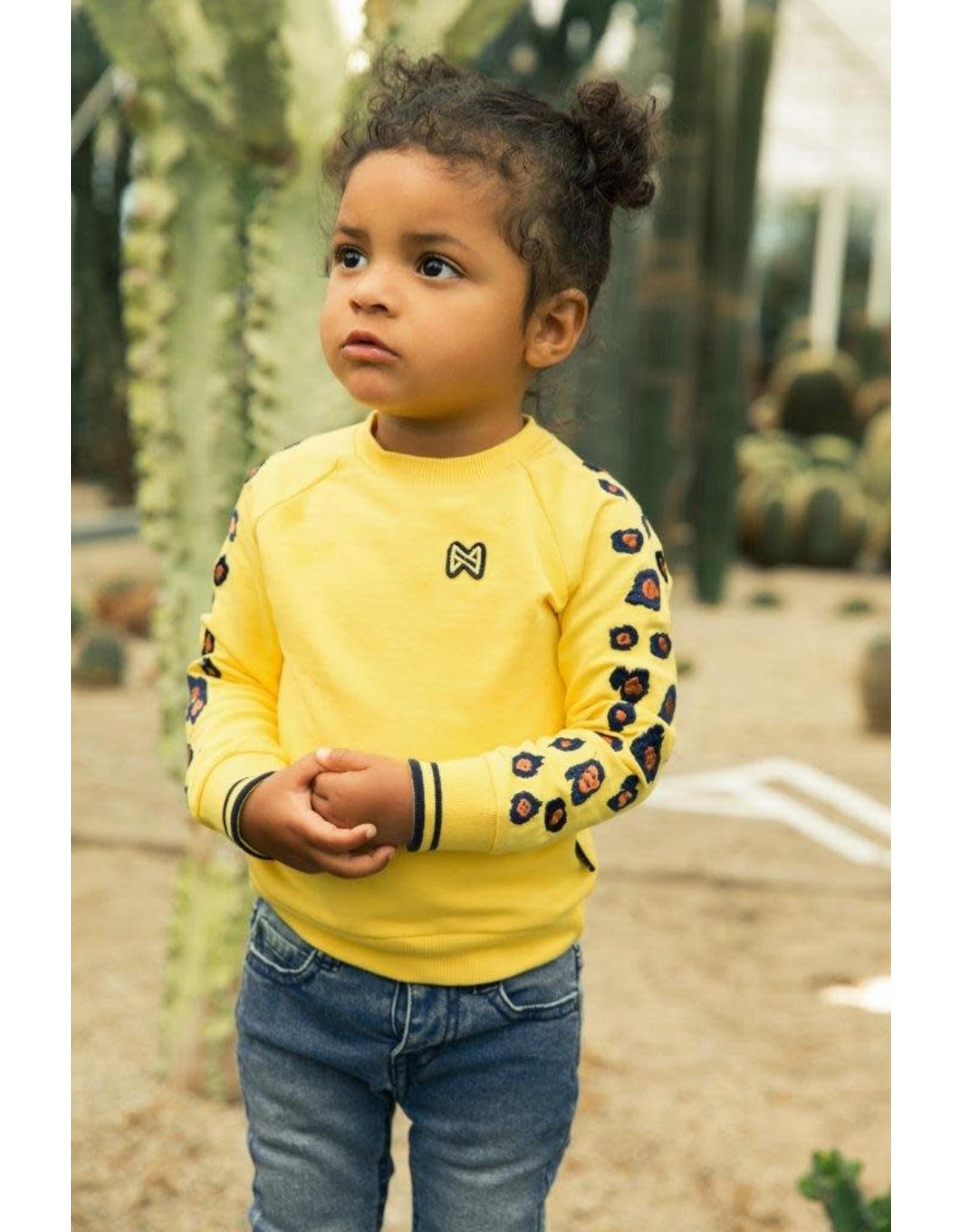 Koko Noko Koko Noko meisjes sweater panterprint Yellow