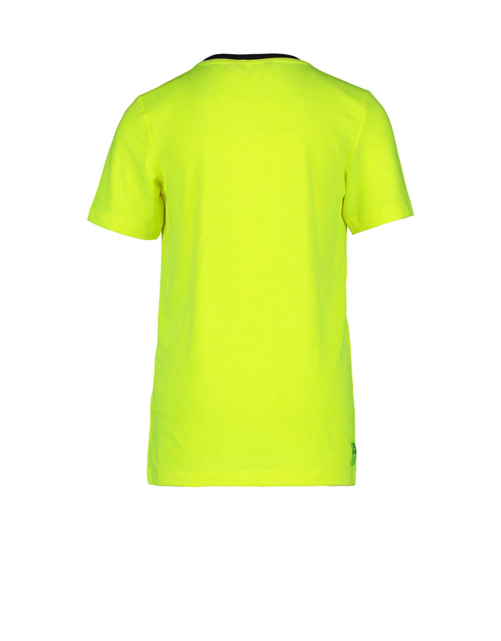 TYGO & vito TYGO & vito jongens t-shirt Let's Rock Safety Yellow