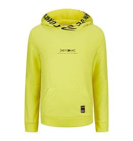 RETOUR Retour jongens hoodie Pepijn Fresh Yellow S21