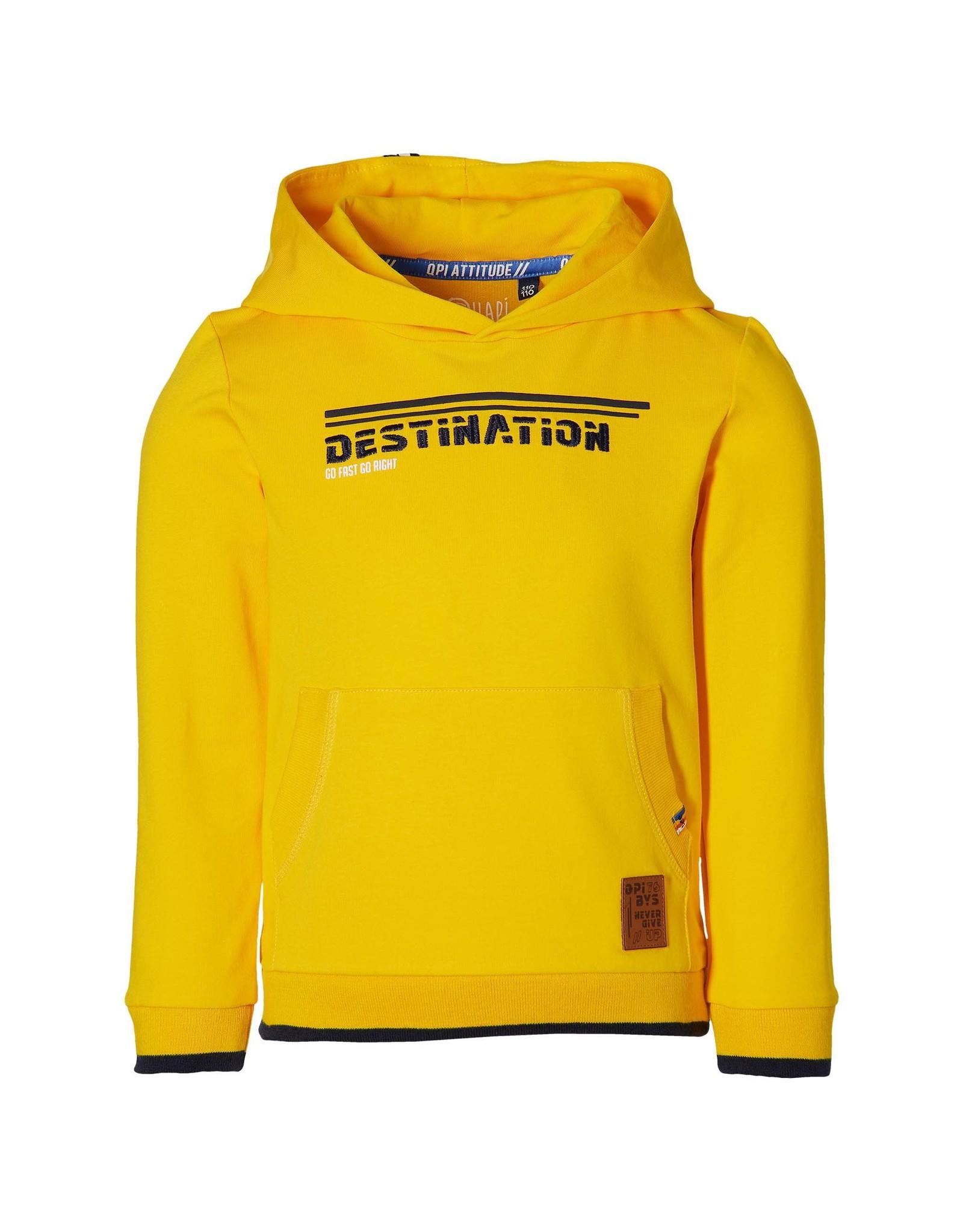 Quapi Quapi jongens hoodie Fen Yellow