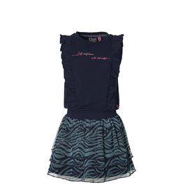 Quapi Quapi meisjes mouwloze jurk Fania Dark Blue