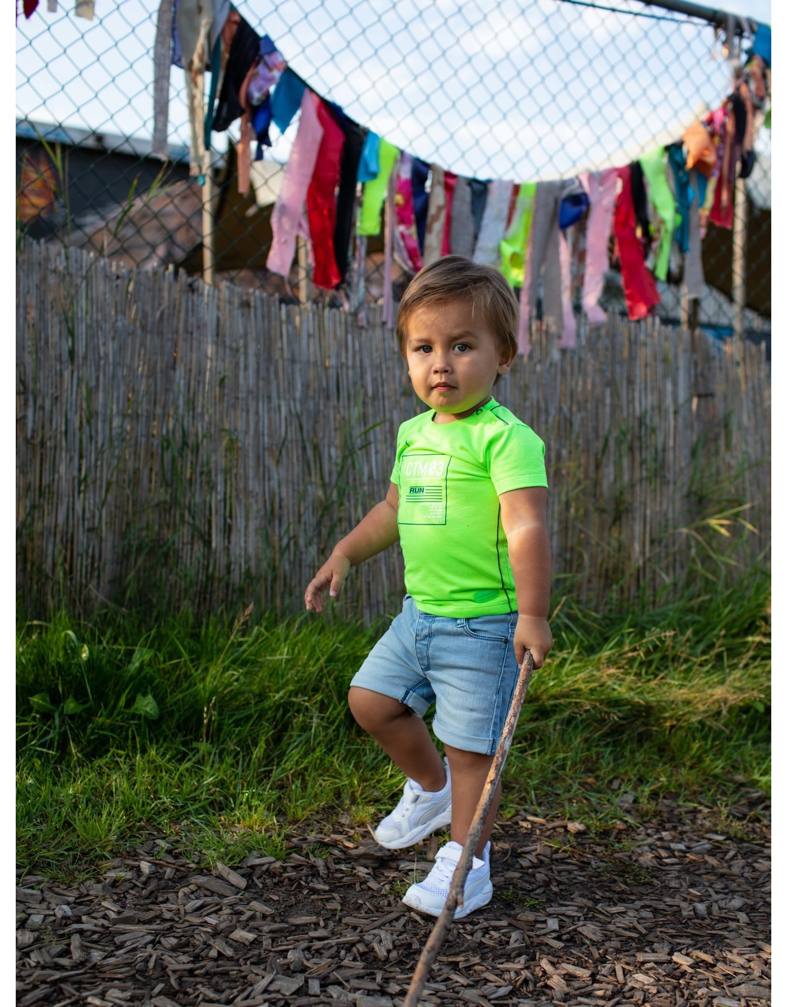 Quapi Quapi baby jongens t-shirt Garaldo Neon Green