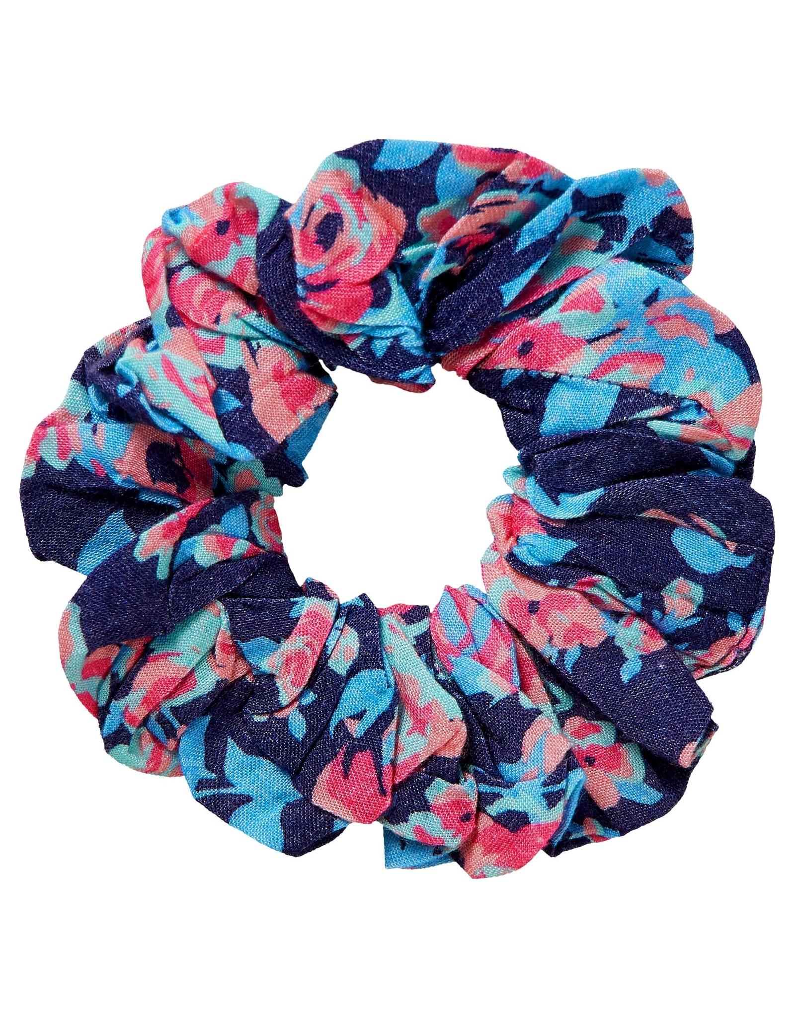 Quapi Quapi meisjes scrunchie Froukje Dark Blue Flower