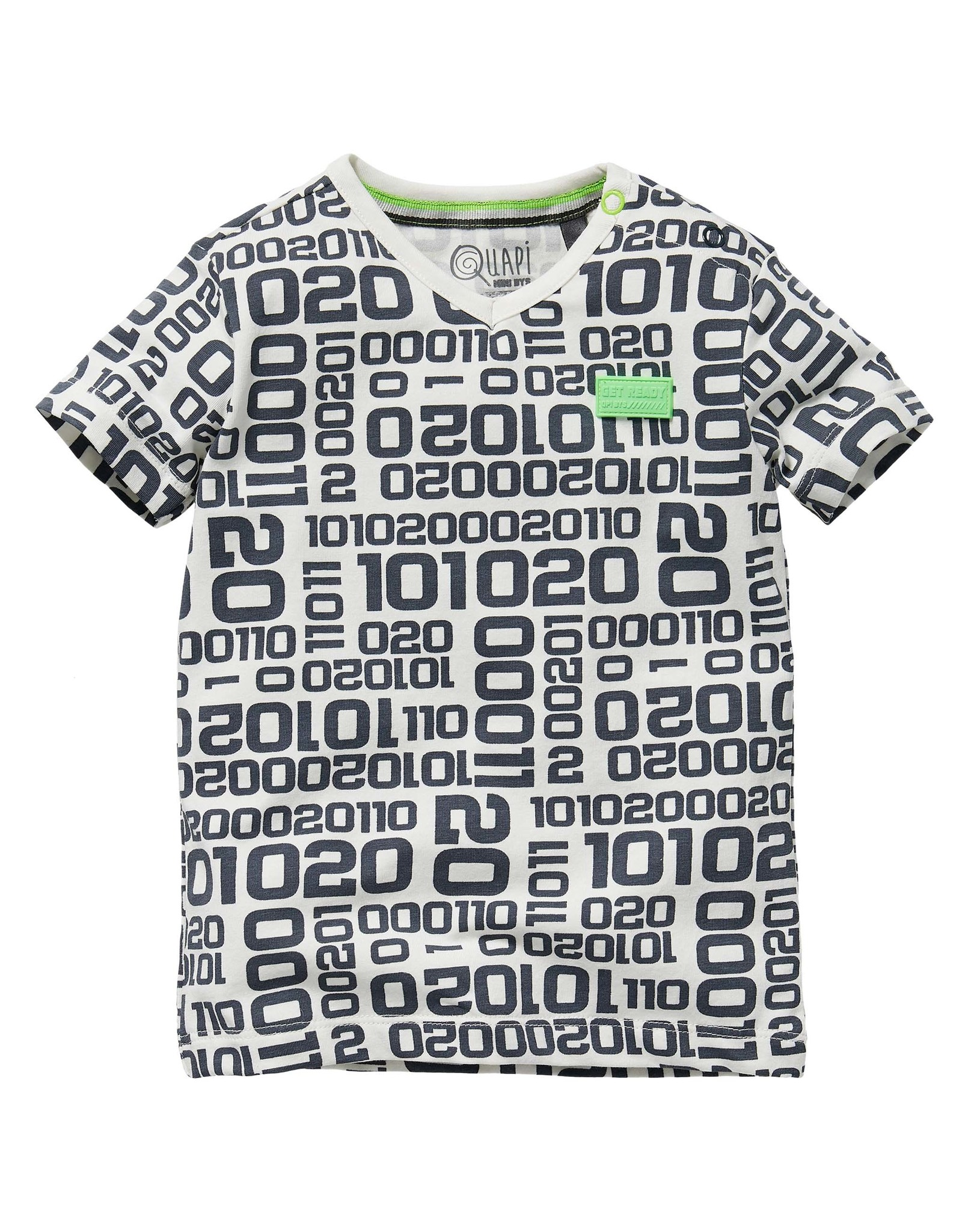 Quapi Quapi baby jongens t-shirt Gavino Dark Grey Letter