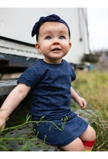 Quapi Quapi baby meisjes korte mouwen jurk Geeke Dark Blue Fruity