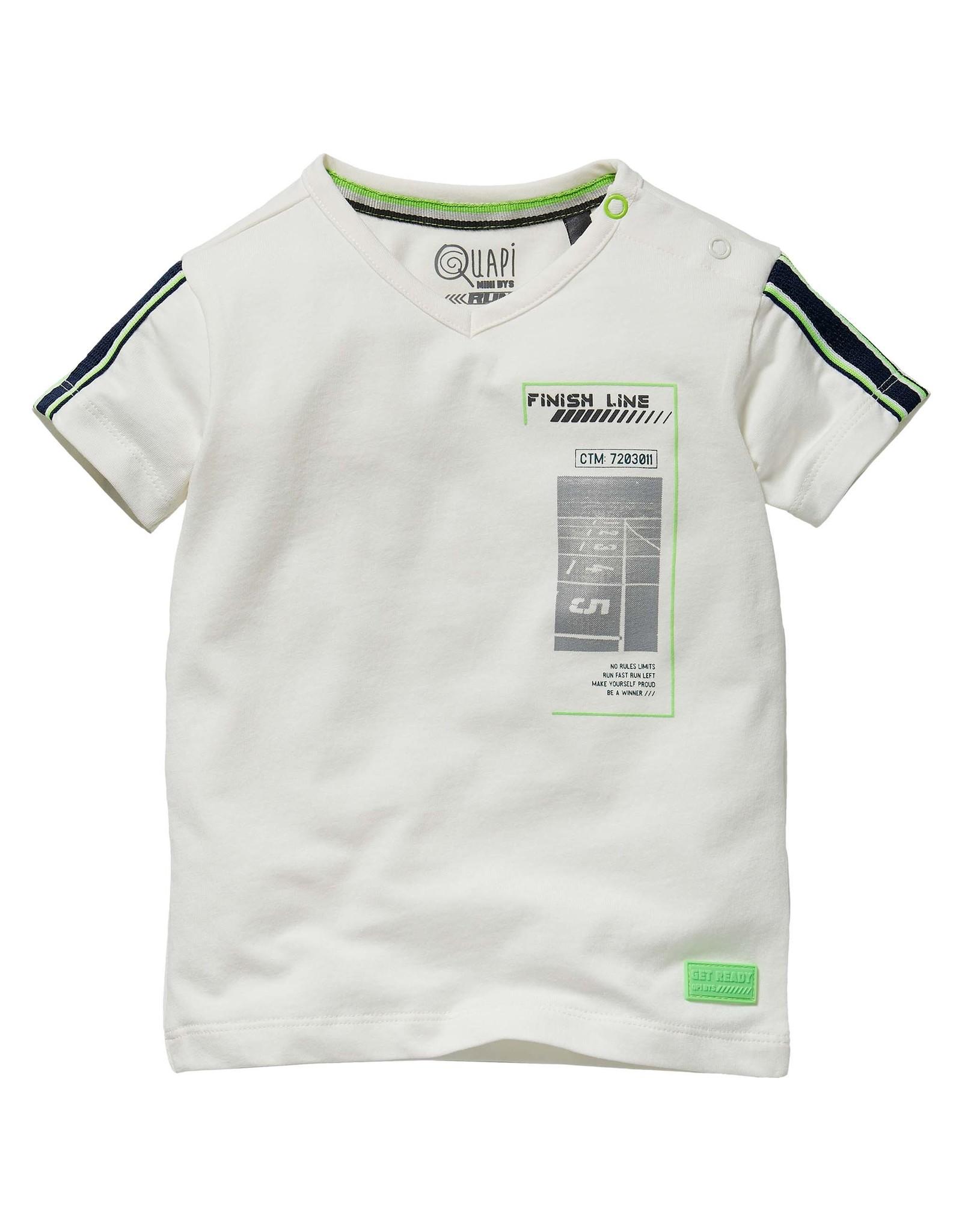 Quapi Quapi baby jongens t-shirt Geran White