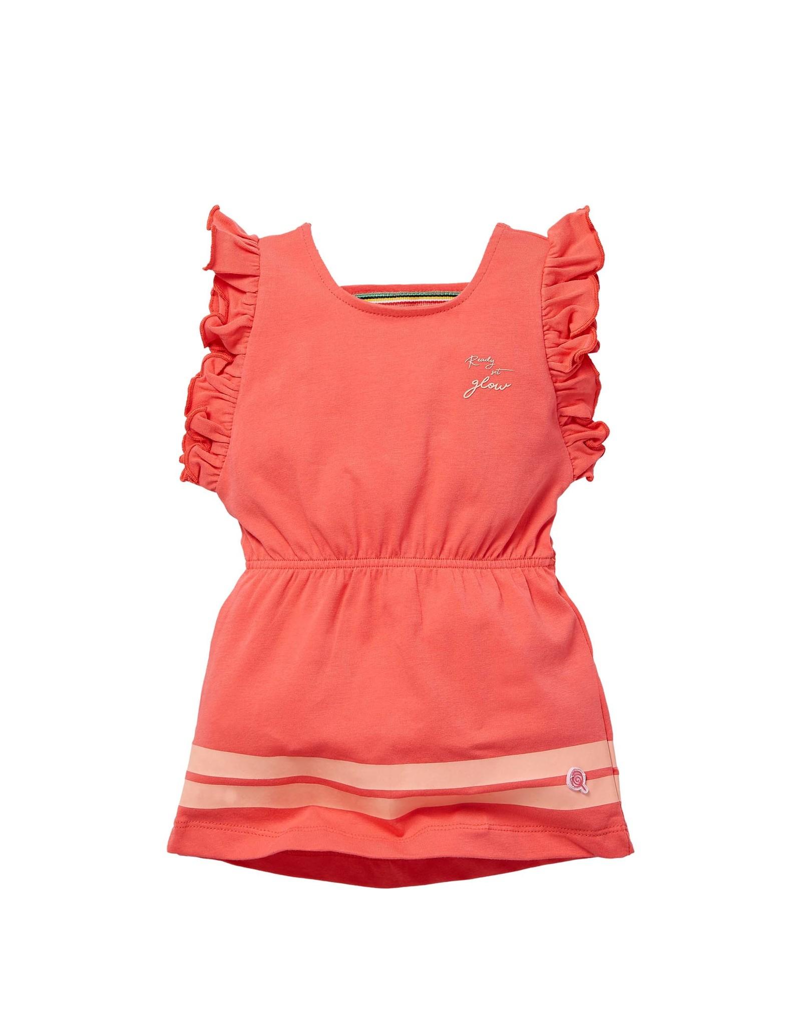 Quapi Quapi baby meisjes jurk Gerdie Bright Coral