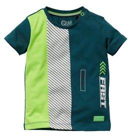 Quapi Quapi baby jongens t-shirt Gerwin Ocean Green