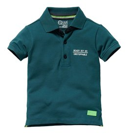 Quapi Quapi baby jongens polo t-shirt Glenno Ocean Green