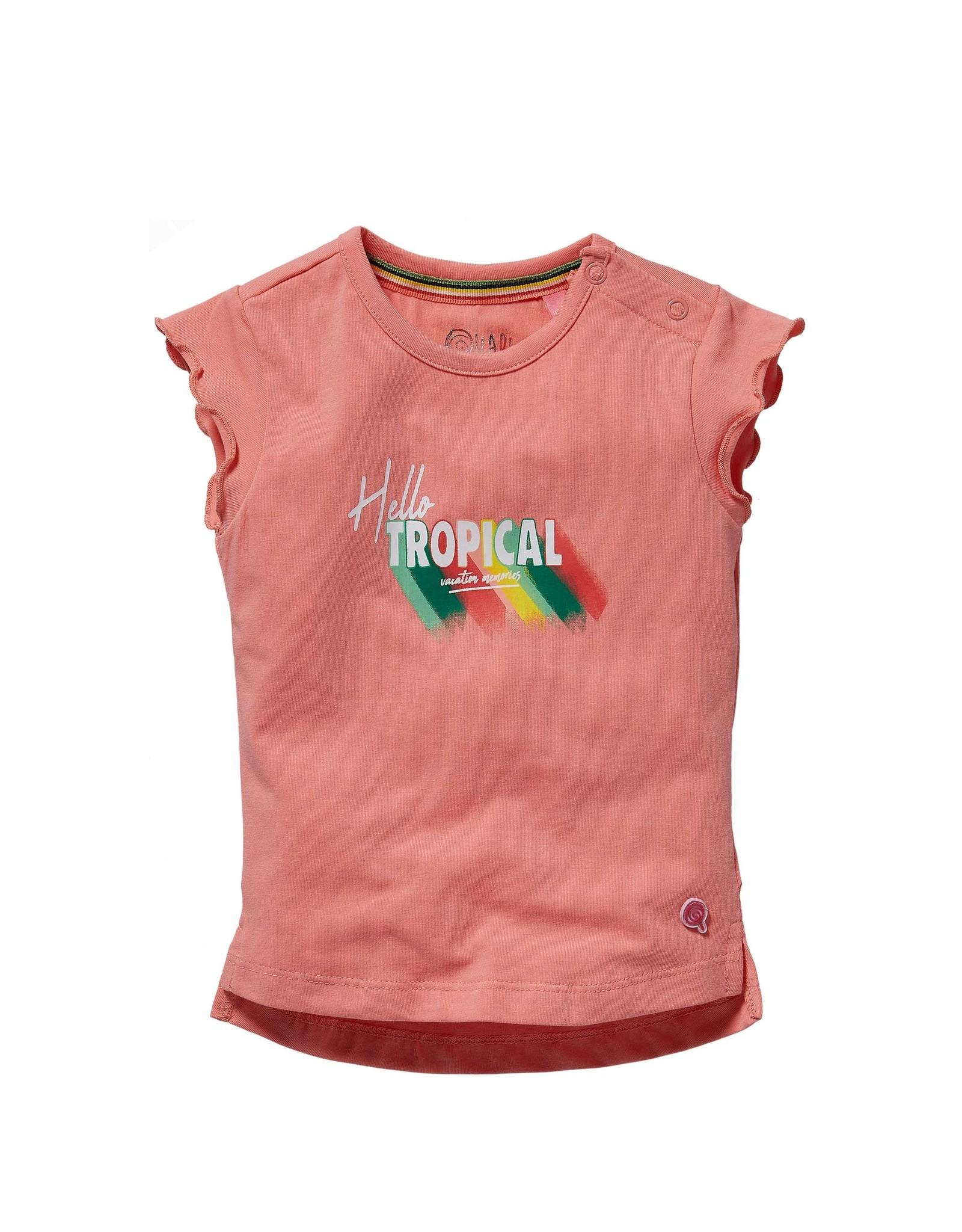 Quapi Quapi baby meisjes t-shirt Grace Shell Pink
