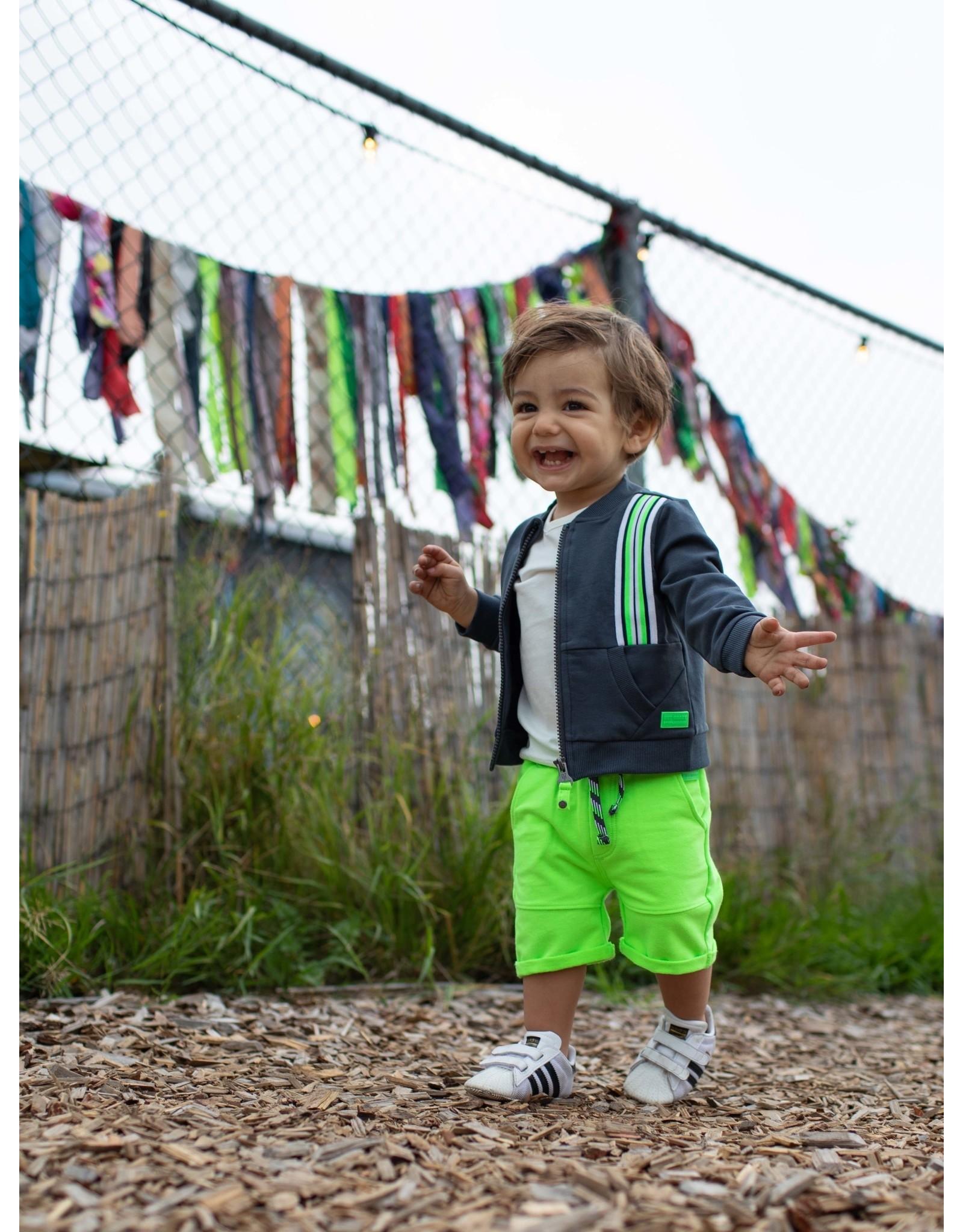 Quapi Quapi baby jongens korte joggingbroek Guus Neon Green