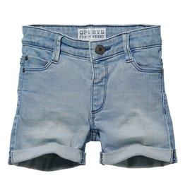 Quapi Quapi baby jongens korte jeans Gylano Light Blue Denim