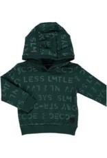 LEVV Levv jongetjes hoodie Leon Deep Green Text