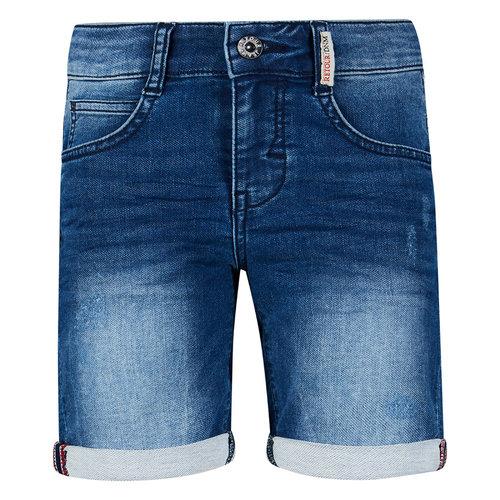 RETOUR Retour jongens korte jeans Loek Medium Blue Denim S21
