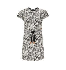 NoBell NoBell meiden jurk met riem Manou Jet Black