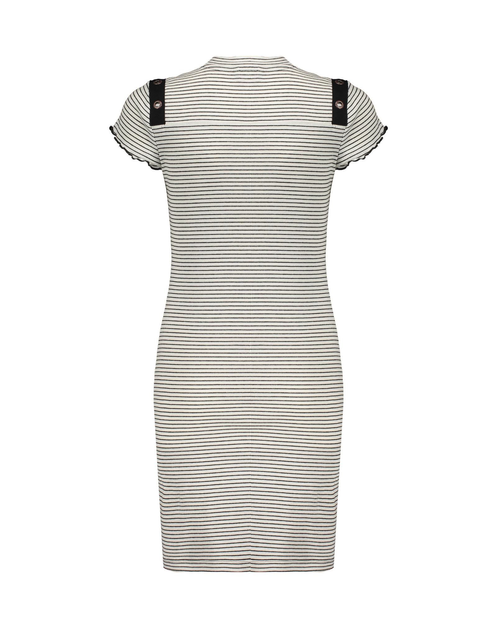NoBell NoBell meiden gestreepte jurk Mizzy Off White