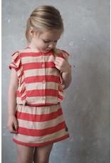 LEVV Levv meisjes jurk Nel Stone Red Sand Stripe