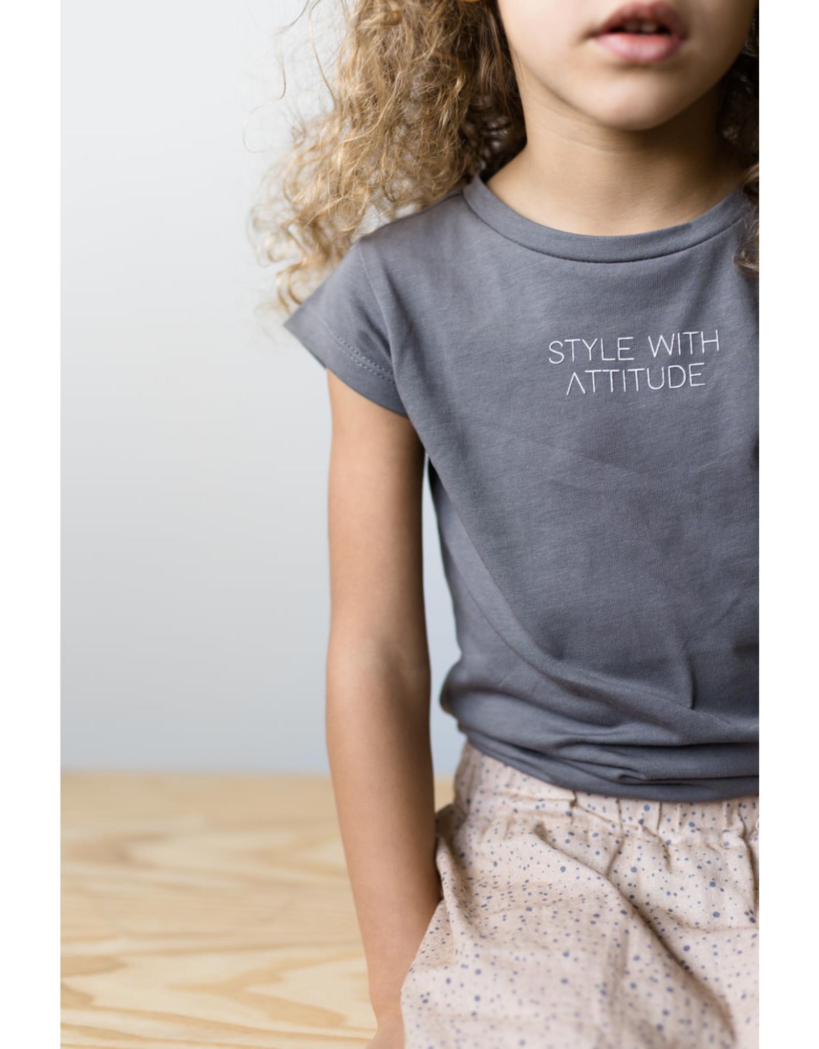 LEVV Levv meisjes t-shirt Neomi Steel Grey