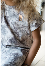 LEVV Levv meisjes korte mouwen jurk Nadja Steel Grey