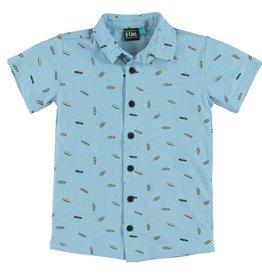 B'Chill B'Chill jongens korte blouse Laurens Blue