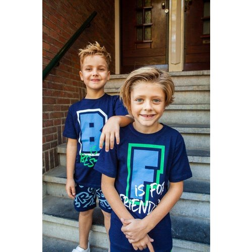 B'Chill B'Chill jongens t-shirt Nero Navy