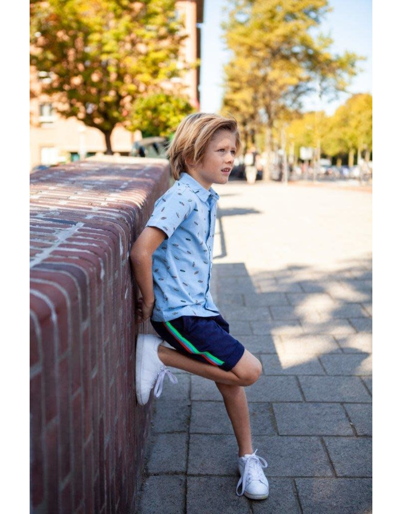 B'Chill B'Chill jongens korte joggingbroek Percy Navy