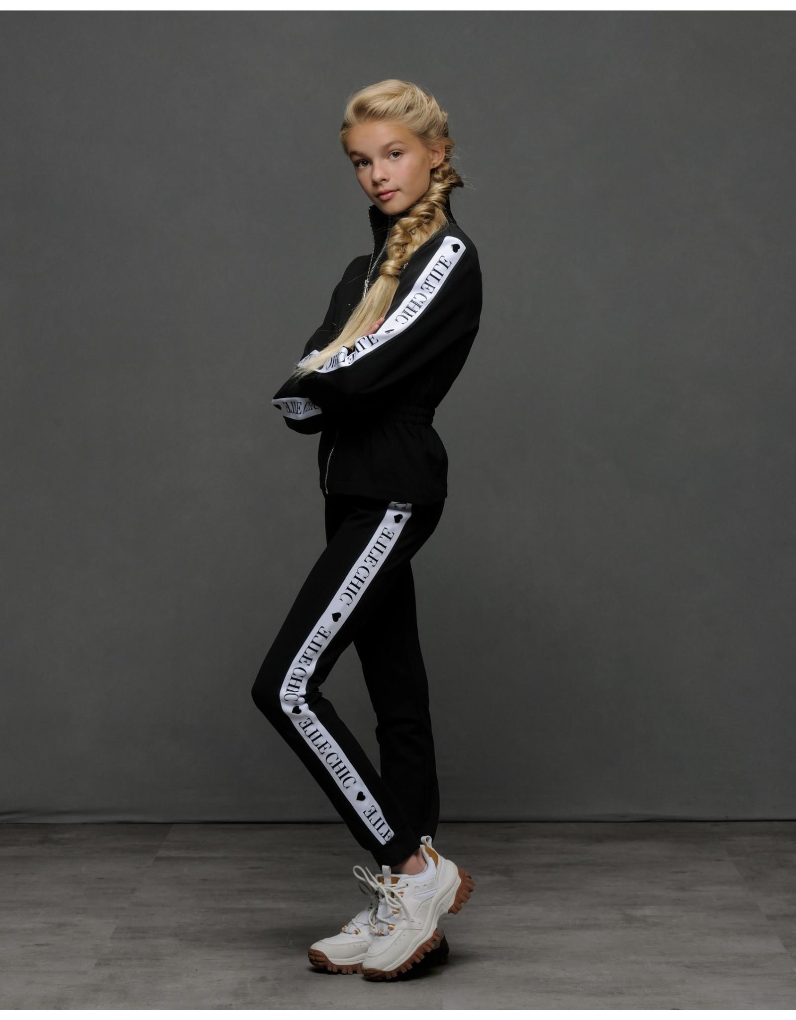 Elle Chic Elle Chic meiden joggingbroek Black Sporty Chic