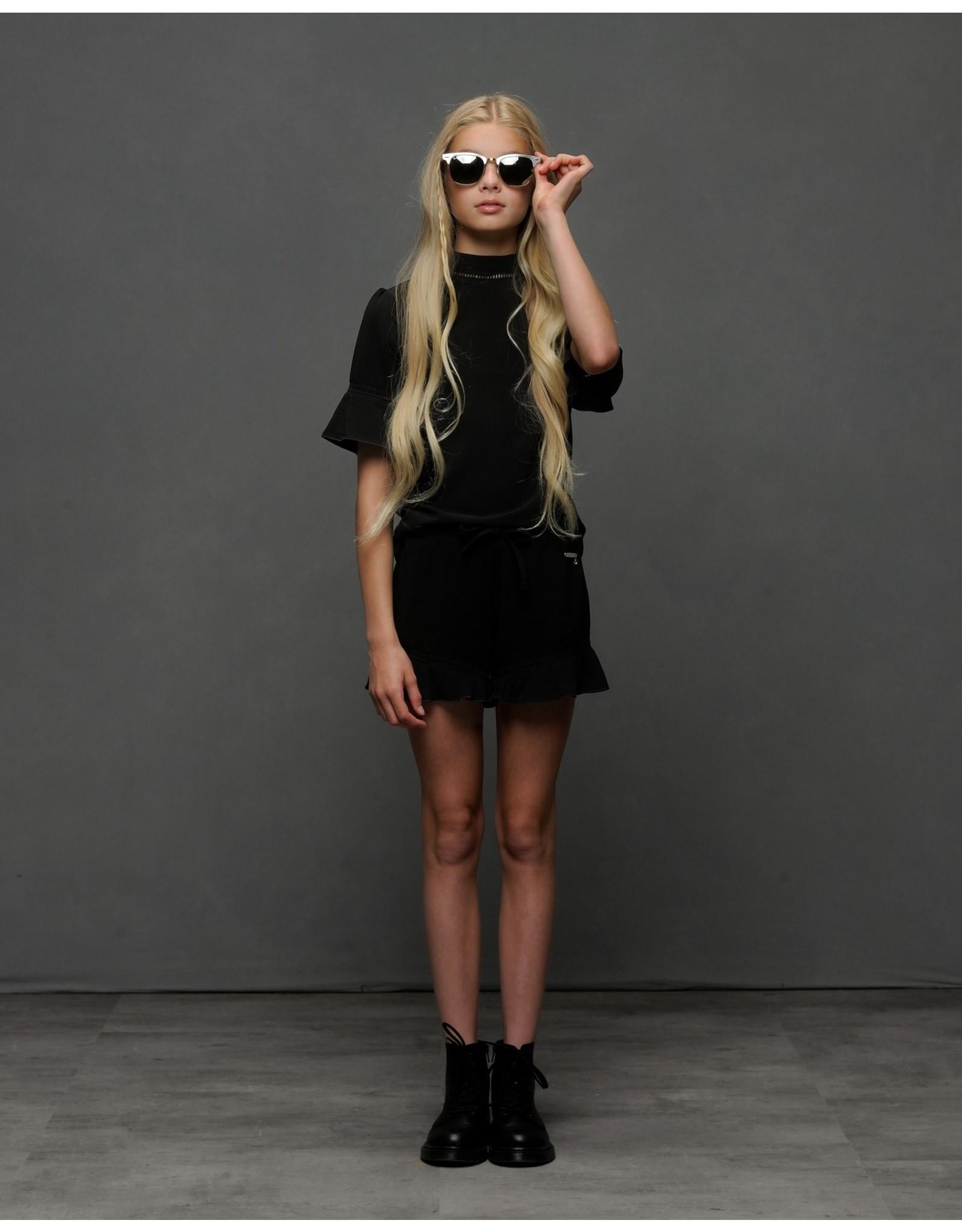 Elle Chic Elle Chic meiden t-shirt Black Chic Stretch Crepe