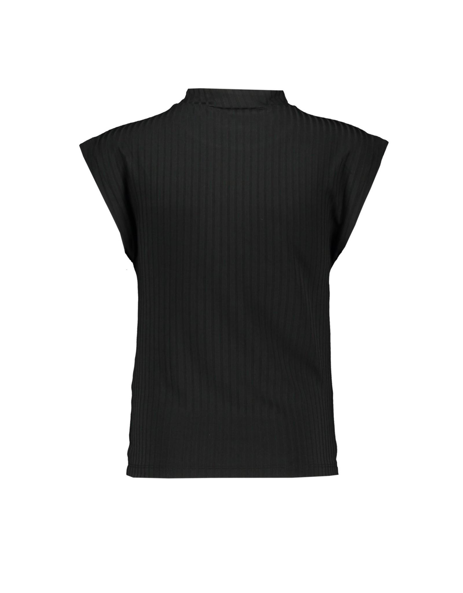 Elle Chic Elle Chic meiden t-shirt Black Mono Stripe