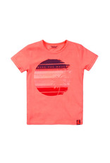 DJ Dutchjeans DJ Dutchjeans jongens t-shirt Ride The Waves Coral