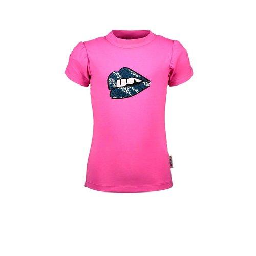 B.Nosy B.Nosy meisjes t-shirt Lips Sugar Plum