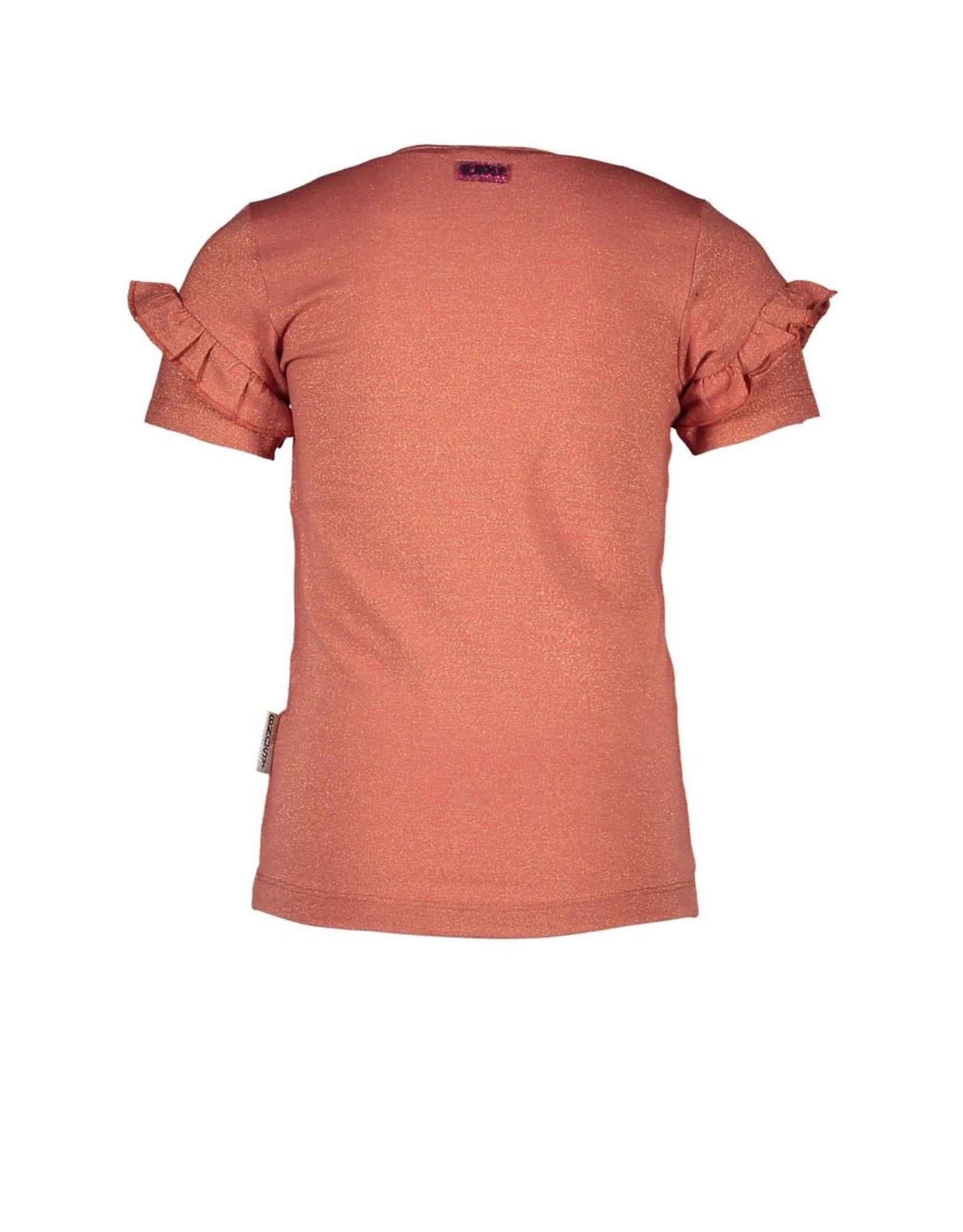 B.Nosy B.Nosy meisjes t-shirt Iconic Pale Brown