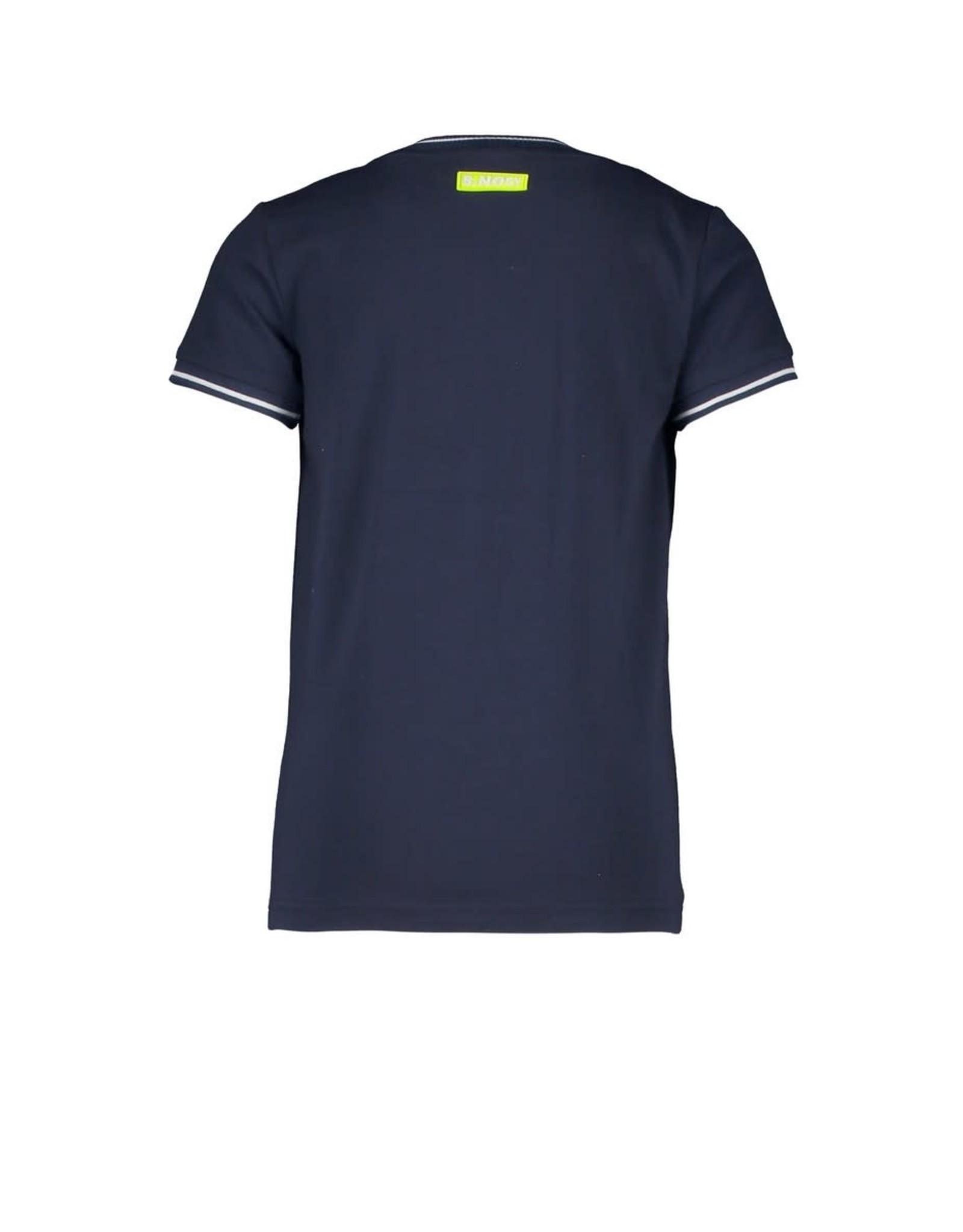 B.Nosy B.Nosy jongens t-shirt Forward Stripe Safety Yellow