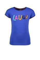 B.Nosy B.Nosy meisjes t-shirt Laugh Cobalt Blue