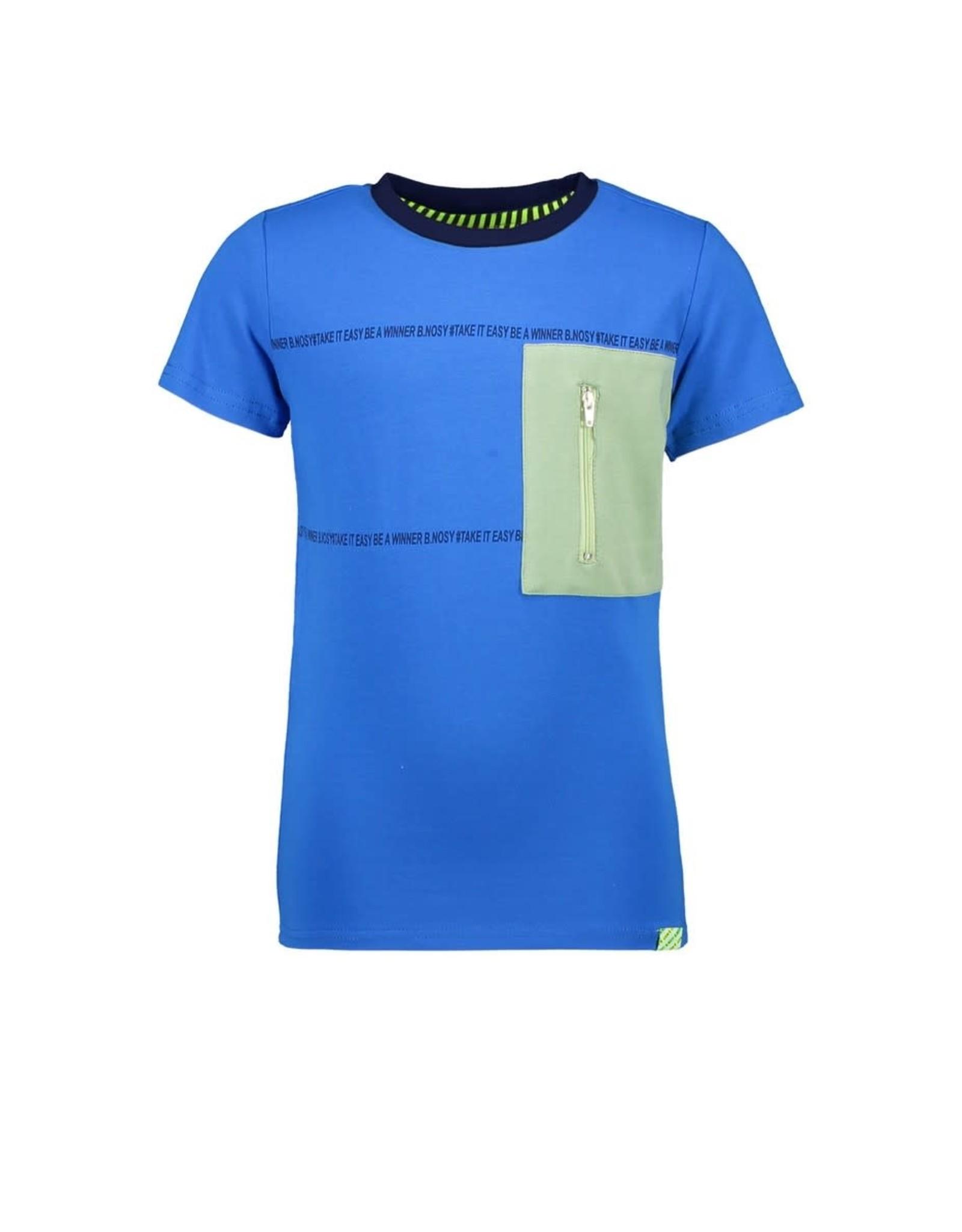 B.Nosy B.Nosy jongens t-shirt Be A Winner Electric Blue