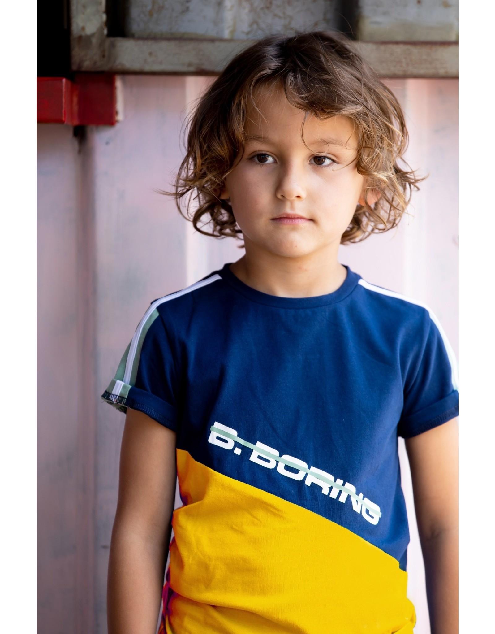 B.Nosy B.Nosy jongens t-shirt B.Boring Space Blue