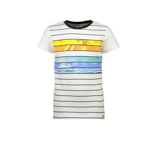 B.Nosy B.Nosy jongens t-shirt Forward Snow Stripe