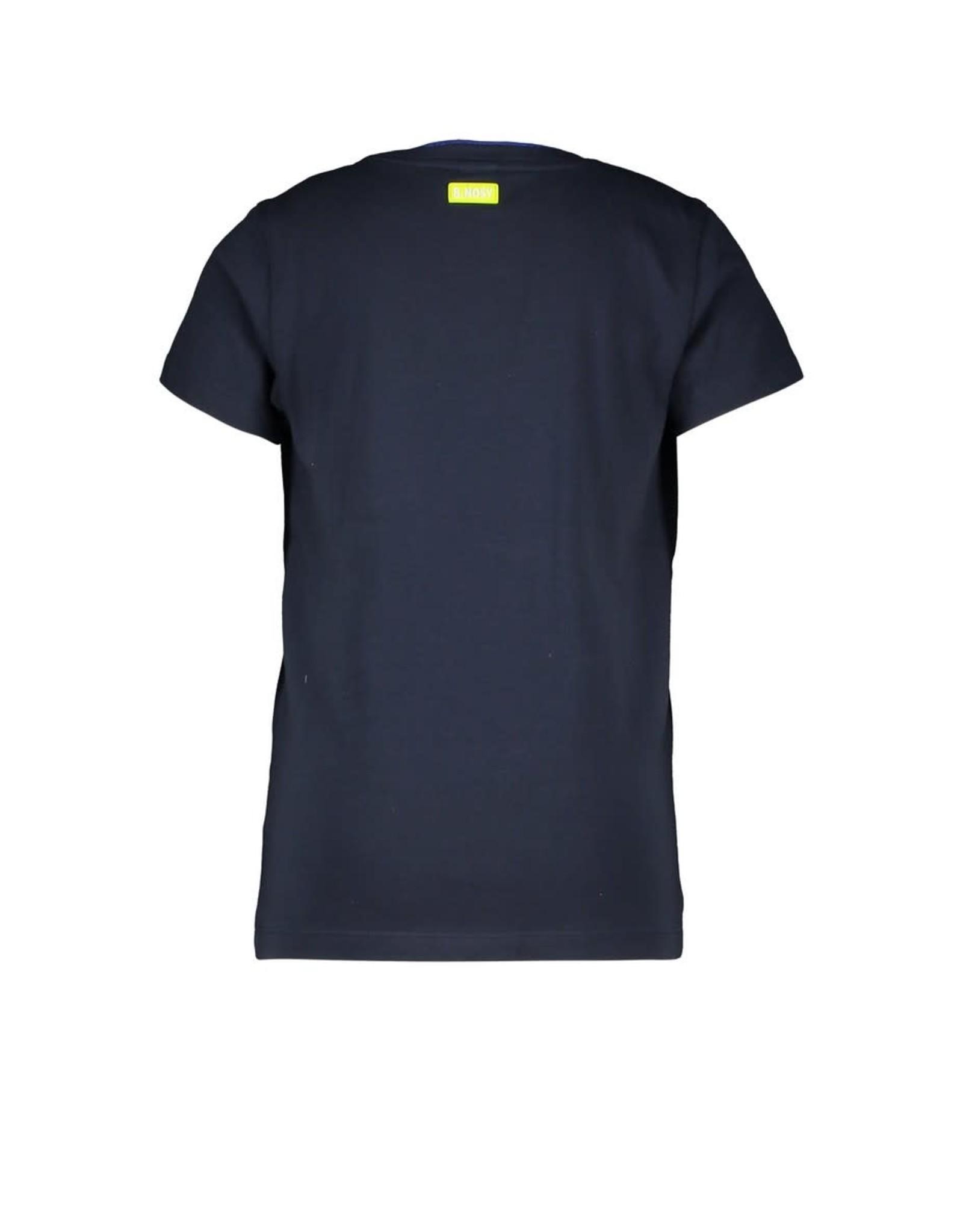 B.Nosy B.Nosy jongens t-shirt Rewind Oxford Blue