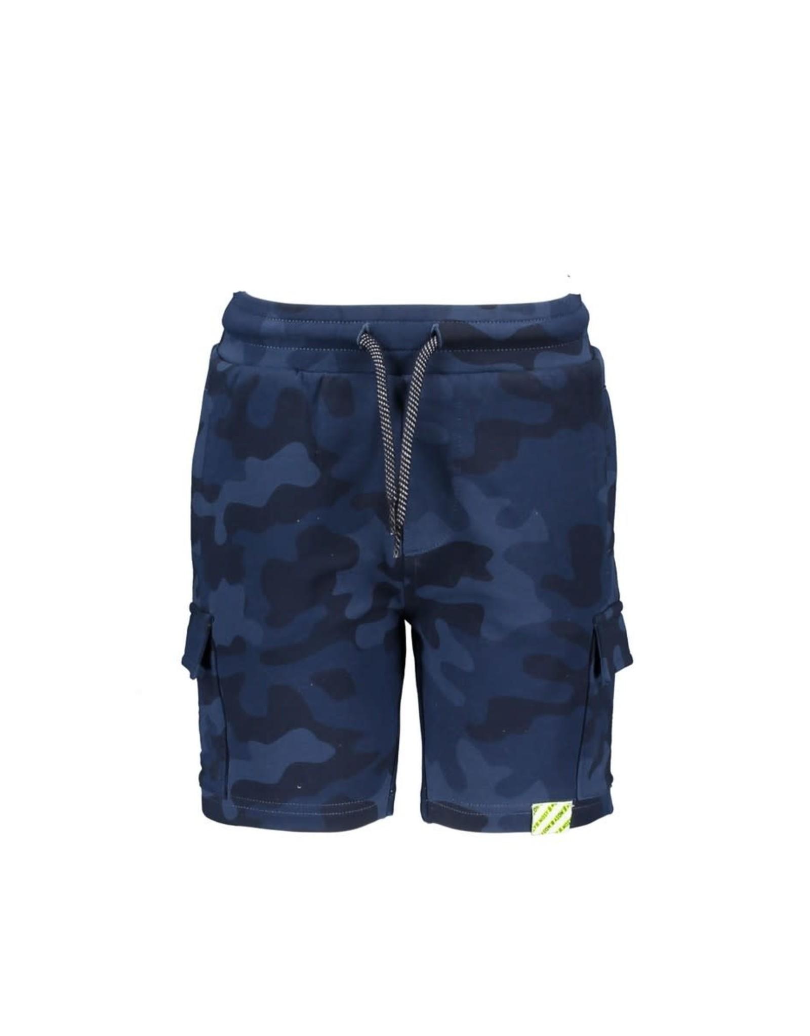 B.Nosy B.Nosy jongens korte joggingbroek Camo Space Blue